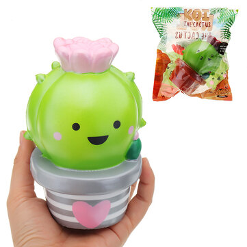Momocuppy Flower Pot Squishy 18cm Slow Rising With Packaging Collection Gift Soft Toy