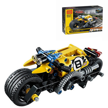 DECOOL Technic Stunt Bike Building Blocks Toys Bricks Kids Model Kids Toys Compatible Legoe