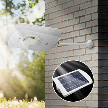 15W 27 LED Solar Powered Light Control Waterproof Wall Lamp Outdoor Garden Walkway Street Light
