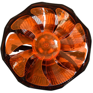 Pccooler E121M 4 Pin 12cm Orange LED CPU Cooler Cooling Fan For Intel LGA775 LGA115X AMD AM2 AM3