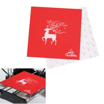 220*220mm Christmas Series Heated Bed Sticker Printed Surface Build Sheet For Creality Ender-3 Wanhao i3 3D Printer Parts