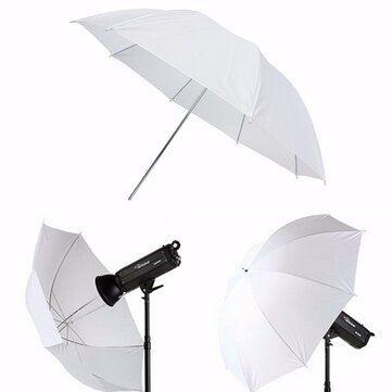 43 inch Photography Video Studio Diffuser Translucent Flash Soft Umbrella White Reflector