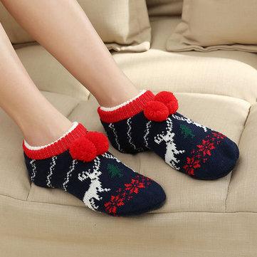 Women Winter Christmas Ankle Socks Non-Slip Floor Socks