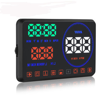 5.5 Inch M9 HUD Car HUD Head Up Display with OBD Interface