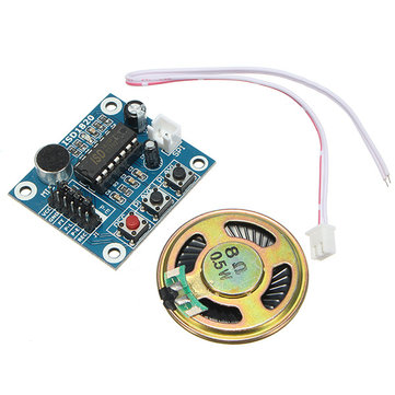3pcs ISD1820 3-5V Recording Voice Module Recording And Playback Module SCM Control Loop Play / Jog Play / Single Play Function With Microphone And 0.5W 8R Speaker