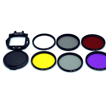 58mm UV CPL ND Filter Kit for Gopro Hero 5 Black Waterproof Housing Case