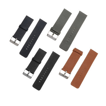 18MM Leather Watch Band Wrist Strap Bracelet For Fitbit Blaze Smart Watch