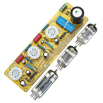 JCDQ11 Tube Amplifier 6N1+6P1 Valve Stereo Amplifier Board Filament AC Power Supply + 3Pcs Tubes