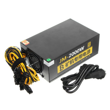220V 2000W Coin Miner Power Mine Chassis Power Supply Miner Mining Rig Machine S7 S9 L3+ D3 R4