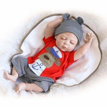 NPK 22inch Reborn Baby Doll Handmade Lifelike Boy Doll Silicone Play House Toy