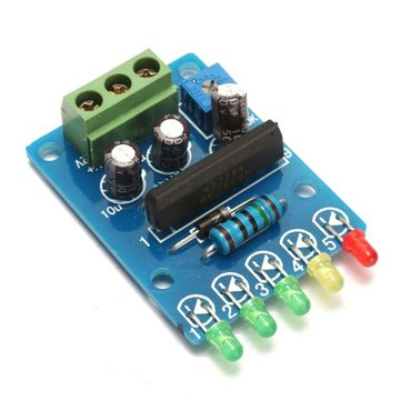 VU Meter Driver Module Audio Level Indicator Power Meter Board 5 LED Level Indicating