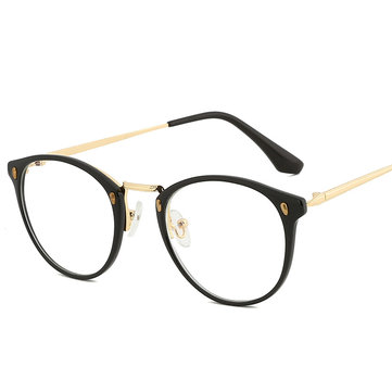 Women Men Metal Frame Blue Light Blocking Glasses