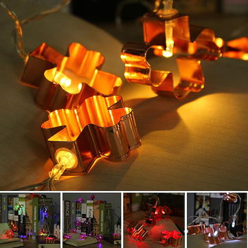 Battery Powered 1.8M LED Iron Flower Fairy String Light Holiday Wedding Party Decor