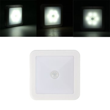 Battery Powered 6 LED Wireless PIR Motion Sensor Night Light Cabinet Stair Lamp