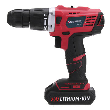 20V Lithium Cordless Power Drill Rechargeable Electric Screwdriver with LED Light