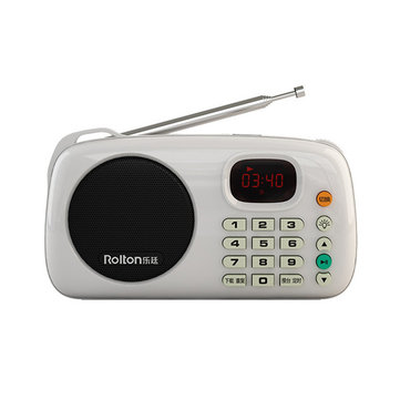 Rolton W305 Portable Stereo Music player Multifunctional FM Radio Support Tf Card Play With Flashlig