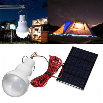 15W/20W Solar Panel Power LED Bulb Light Portable Outdoor Camping Emergency Lamp
