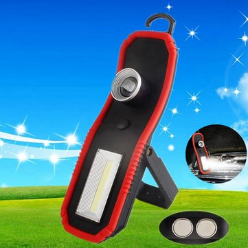 3W 120lm Portable COB High Power LED Work Light Battery Powered Zooming Camping Light for Outdooor