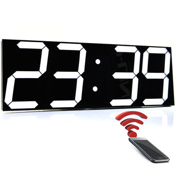 Wifi Remote Control Large Wall Clock Modern Design Smart Digital Clock Temperature Calendar Display Timer Wall Watch