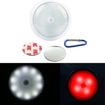 多機能ポータブル14 LEDモーションセンサーマグネットナイトライトキャッチング警告ランプを点在