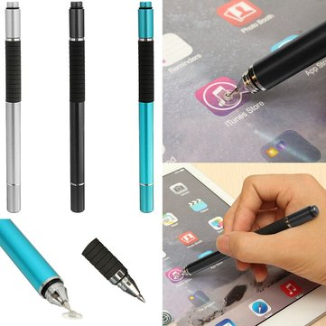 Universal 2 In 1 Aluminum Capacitive Touch Screen Stylus Pen For iPhone iPad Xiaomi Huawei HTC