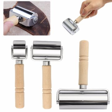 26/60/100mm Leather Glue Edges Laminating Roller Craft DIY Handmade Crease Tool