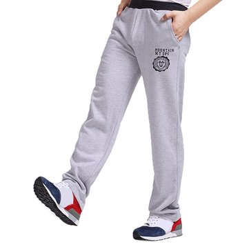 Men Thicken Fleece Casual Jogger Pants Cotton Lacing Straight Legs Trousers