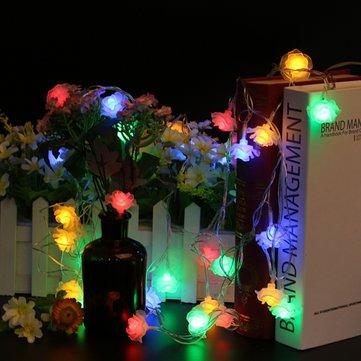 5M 40LED 8モードローズフラワー屋内屋外妖精ストリングライトクリスマスパティオAC220V用