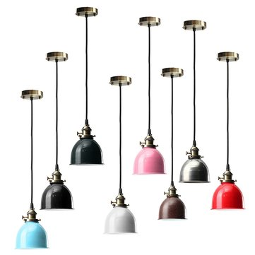 E27 Modern Retro Vintage Ceiling Pendant Light Bulb Lamp Shape Cafe Bar Fixture