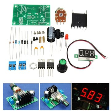 LM317 Adjustable Voltage Regulator DIY LED Step Down Module Kit AC/DC to 27V 40V