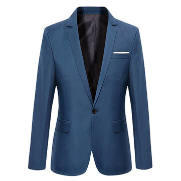 Men Casual Fashion Slim Fit Suit Jacket Blazers Coat 7 Colors