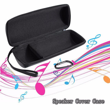 Travel Bluetooth Speaker Case Cover Bag Soft Carry Leather Pouch Box Black