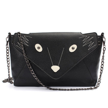 Women PU Leather Fox Crossbody Bag