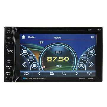YT-F6066A 6.2 inch 2 DIN Car Stereo DVD MP3 Player FM Radio bluetooth TF USB Touch Screen HD