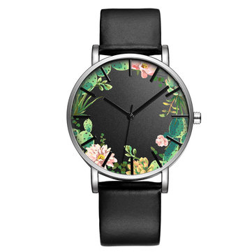 BAOSAILI B-9014 Unisex Wrist Watch Flower Picture Dial Display Quartz Watch