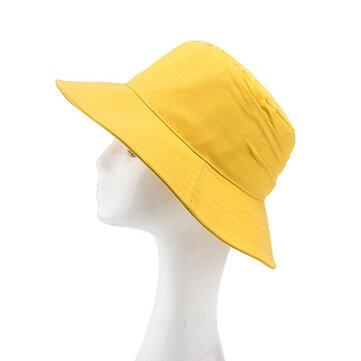 Women Plain Summer Stripe Breathable Dress Bucket Caps Outdoor Folding Sunshade Beach Hats