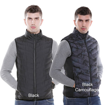Electric USB Heated Warm Vest Men Women Rechargeable Heating Coat Racing Jacket