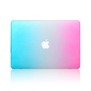 Fashion Rainbow Colorful Protective Shell Laptop Case Cover For Apple MacBook Retina 15.4 Inch