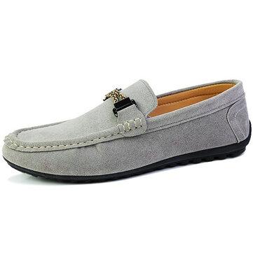 Мужчины замша случайные скольжения на квартирах бездельник обуви мягкие удобные мокасины обувь для вождения