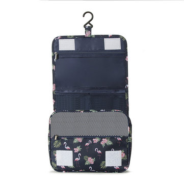 Portable Folding Travel Storage Bag Wall Mounted Hanging Cosmetic Bag Makeup Organizer Case
