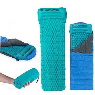 Naturehike NH17T024-T Air Inflatable Sleeping Cushion Camping Mat Moisture Proof Mattress Pad With Pillow