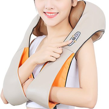 U Shape Electrical Shiatsu Kneading Foot Back Neck Shoulder Massager Electric Massage