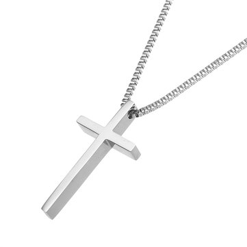 Simple Style Stainless Steel Cross Pendants Necklace For Women Delicate Necklaces