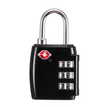 KCASA LK-30 3 Digit TSA Combination Lock Travel Security Approved Luggage Padlock Password Lock