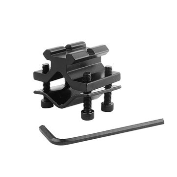 AURKTECH 1PCS Butterfly Barrel Clamp Accessory 20mm Weaver Black Scope Mount Rail
