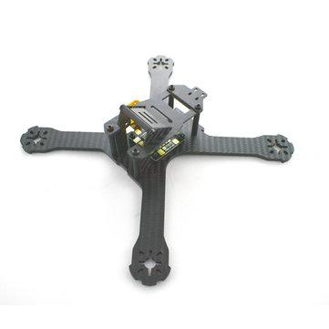 Realacc X210 214mm 3mm/4mm Carbon Fiber Frame RC Drone FPV Racing w/ Matek PDB-XT60 5V & 12V