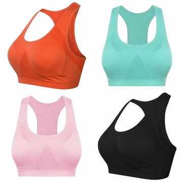 Yoga Running Sport Push Up Bra Tank Shirt Underwired Clothing Fast Dry