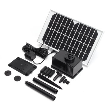 12V 5W 280L/H Solar Panel Brushless DC Water Pump With Water Outlet Caps Kits