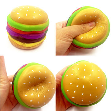 SquishyShop Hamburger Squishy 8cm Slow Rising Met Packaging Collection Cadeau Decor Soft Toy