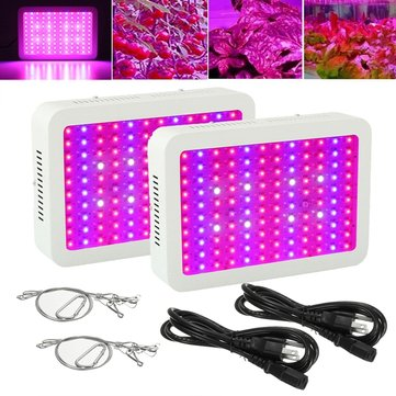 2pcs FULL Spectrum 300W LED Grow Light Panel for Indoor Plant Veg Flower Hydroponics